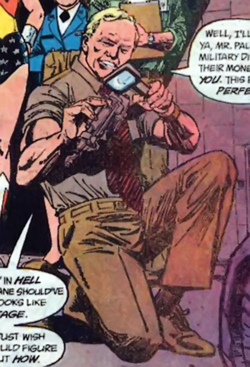 Steve Trevor (Wonder Woman ally) (Post-Crisis DC Comics) examining debris