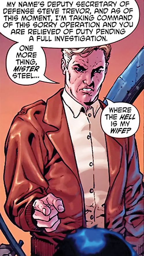 Steve Trevor (Wonder Woman ally) (Post-Crisis DC Comics) being threatening