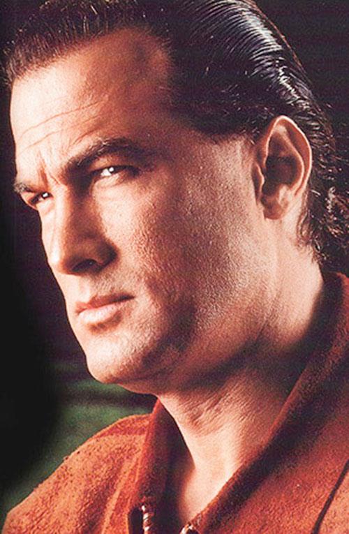 Steven Seagal face closeup