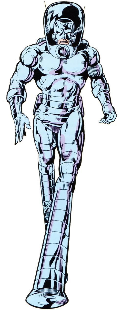 Stilt-Man in the 1983 Marvel Comics handbook