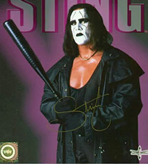 Sting (wrestler) with a black bat