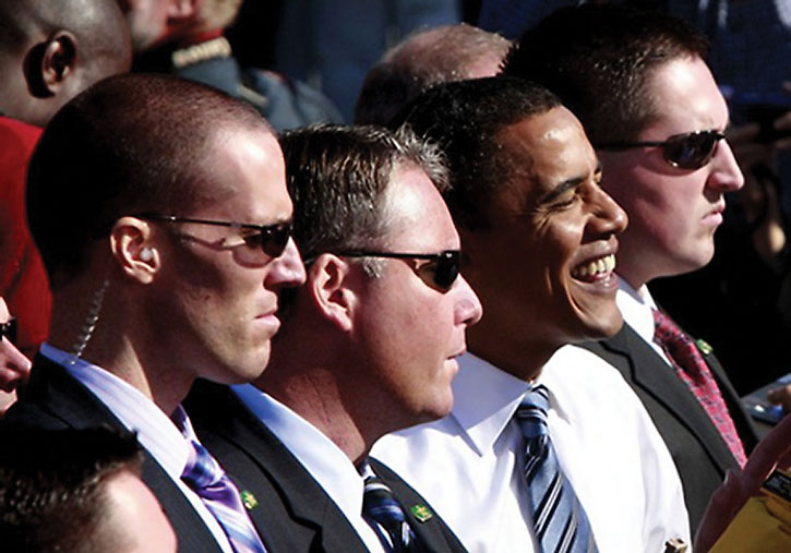 Secret Service Men and President Obama