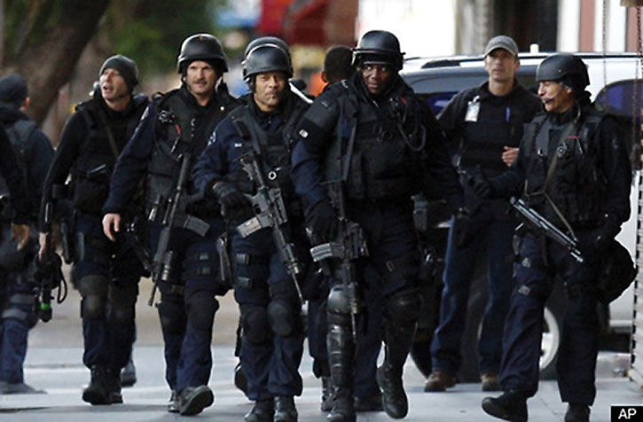 Armored American SWAT team