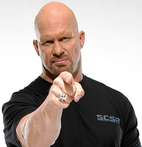Stone Cold Steve Austin (wrestler) pointing