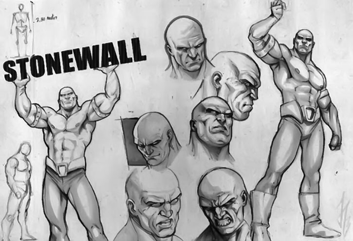 Stonewall character design model sheet
