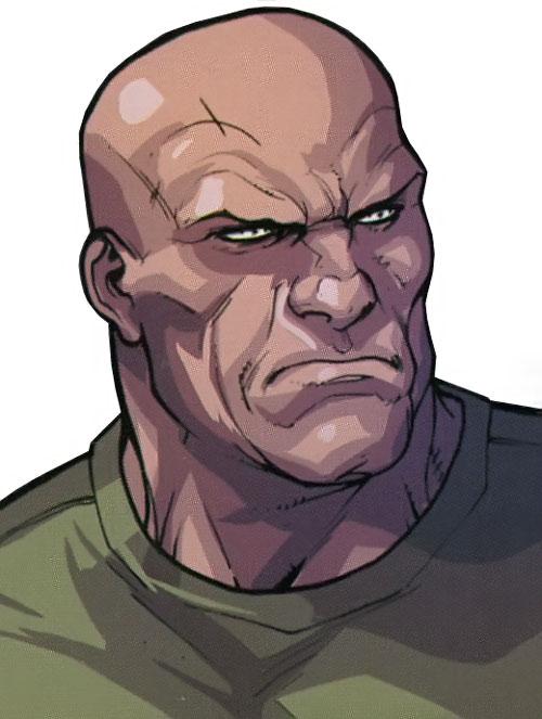 Stonewall of the Secret Warriors (Marvel Comics) face closeup