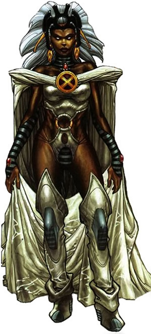 Storm of the X-Men (Marvel Comics) in the white astonishing costume