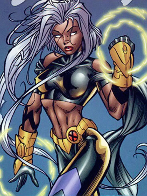 Storm of the X-Men (Marvel Comics) with 1990s gauntlets