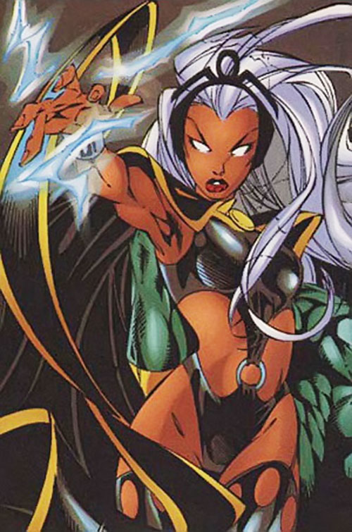 Storm of the X-Men (Marvel Comics) in her original costume