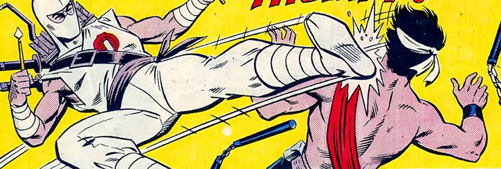 Storm Shadow - GI Joe - Marvel Comics - Side quick kick