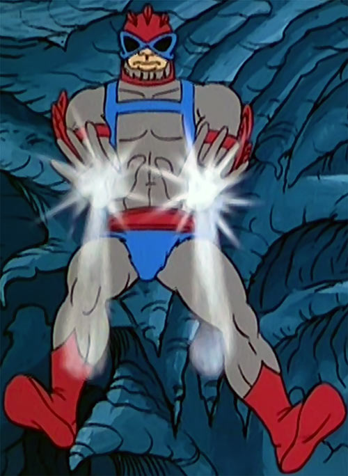 Stratos (He-Man and the masters of the universe cartoon) palm blasts