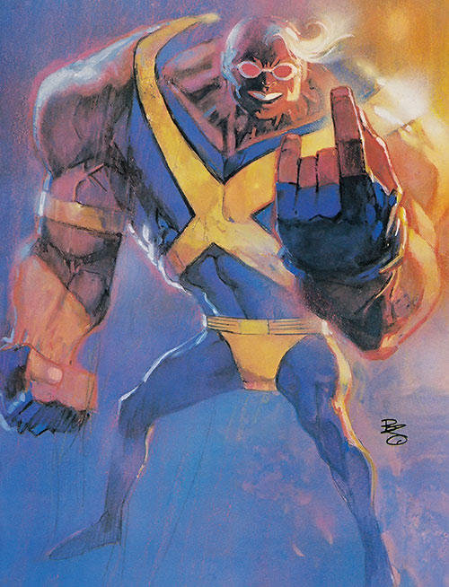 Strong Guy of X-Factor (Marvel Comics) painted art