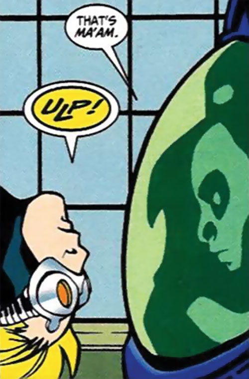Stronghold of Heavy Mettle (New Warriors enemy) (Marvel Comics) helmet closeup