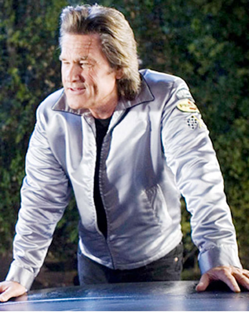 Stuntman Mike (Kurt Russell in Death Proof) with a white jacket
