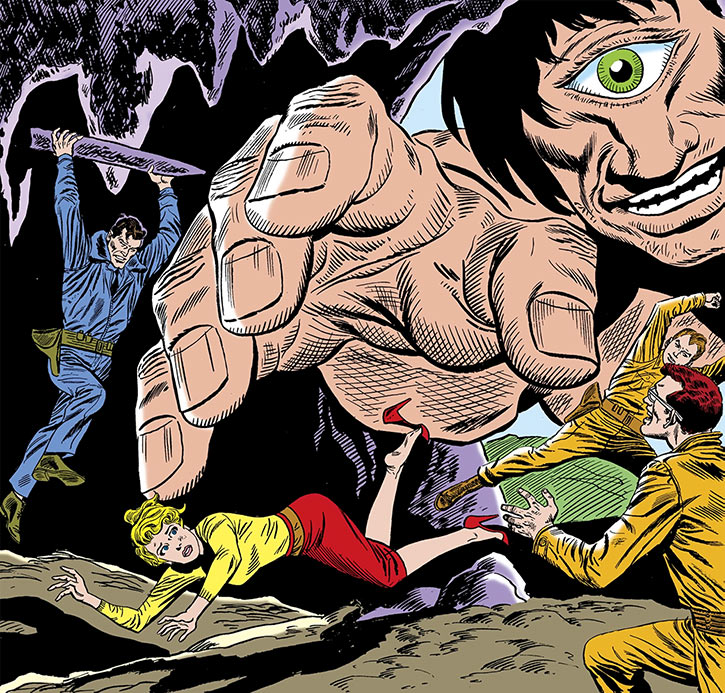 The Silver Age Suicide Squad faces a giant cyclops (DC Comics)