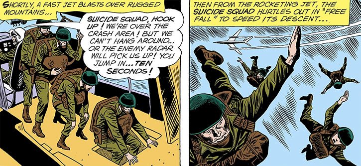 The Silver Age Suicide Squad is parachuted