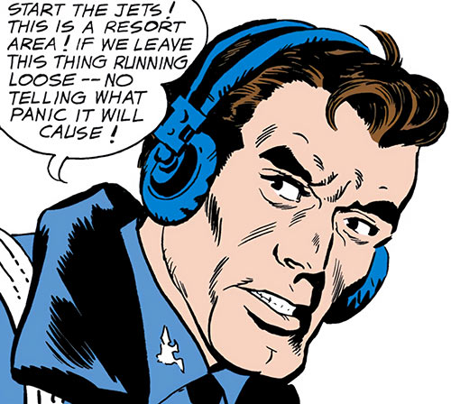 Suicide Squad (Mission X) (Pre-Crisis DC Comics) - Rick Flag with a radio headset
