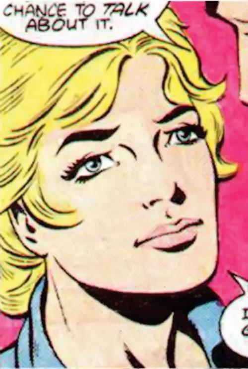 Suicide Squad (Mission X) (Pre-Crisis DC Comics) - Karin Grace looking smitten