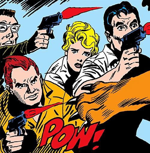 Suicide Squad (Mission X) (Pre-Crisis DC Comics) shooting pistols