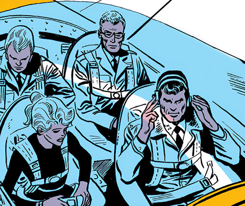 Suicide Squad (Mission X) (Pre-Crisis DC Comics) in the cockpit