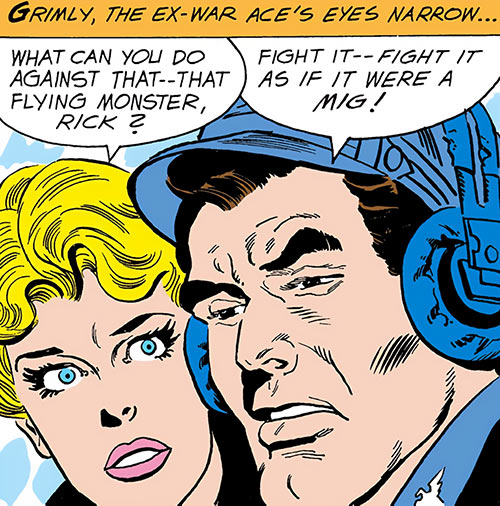 Suicide Squad (Mission X) (Pre-Crisis DC Comics) - Rick Flag and Karin Grace faces closeup
