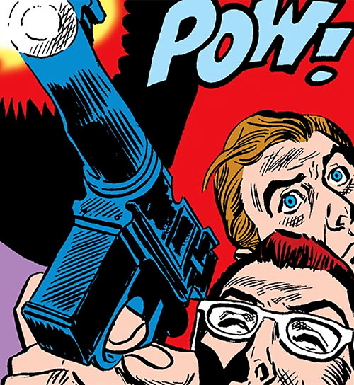 Suicide Squad (Mission X) (Pre-Crisis DC Comics) - Bright and Evans firing a special gun