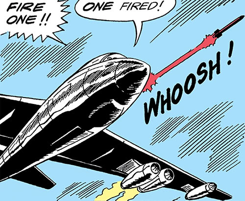 Suicide Squad (Mission X) (Pre-Crisis DC Comics) - the SS1 fires a missile