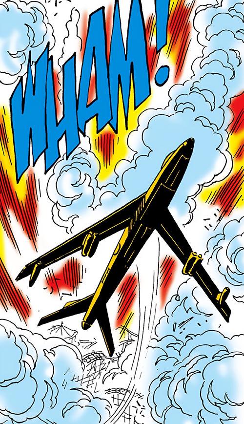 Suicide Squad (Mission X) (Pre-Crisis DC Comics) - the SS1 rides an explosion