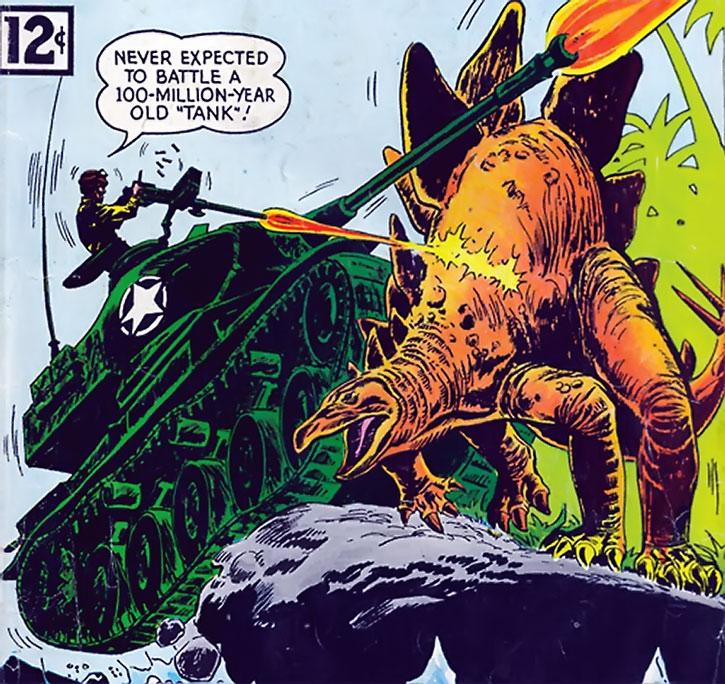 Suicide Squad (War that Time Forgot version) - tank vs. stegosaur