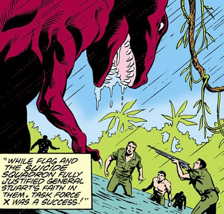 Suicide Squad (War that Time Forgot version) - dinosaurs vs. infantry in a swamp