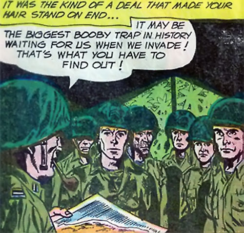 War that time forgot (DC Comics) - rangers being briefed
