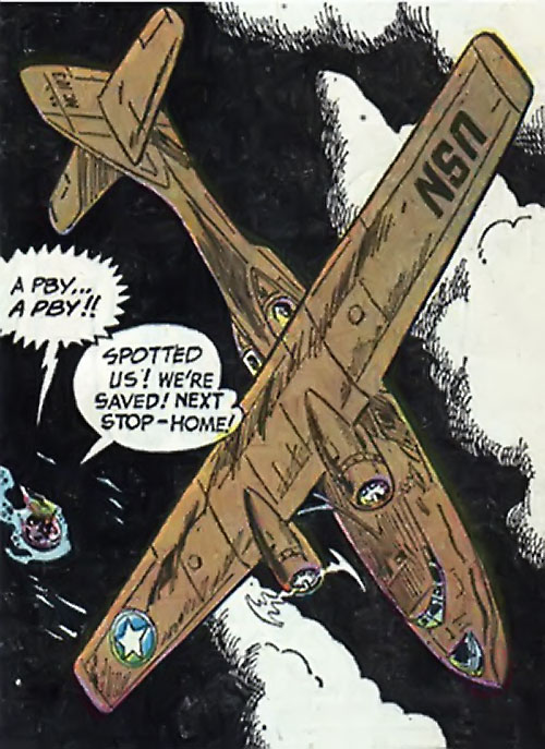War that time forgot (DC Comics) - PBY Catalina spotting a raft