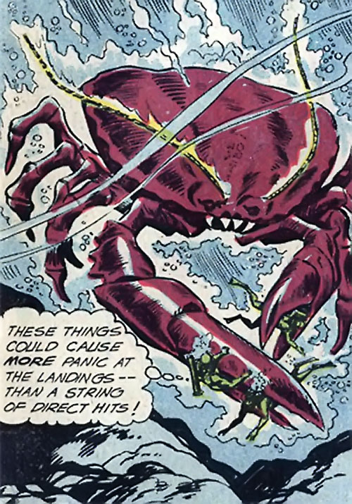 War that time forgot (DC Comics) - combat divers vs. mega-crab