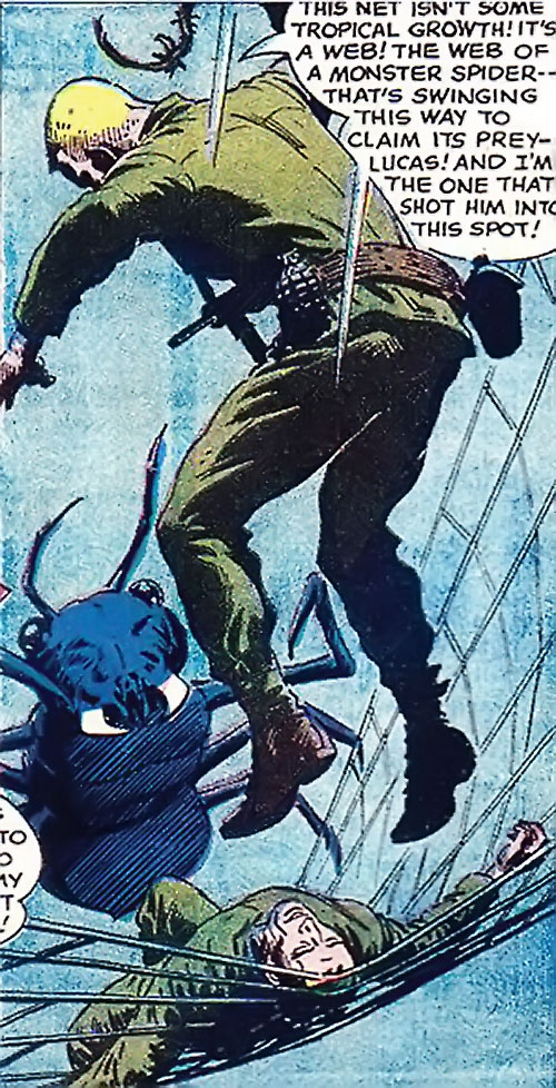 War that time forgot (DC Comics) - soldiers fighting a giant spider ant