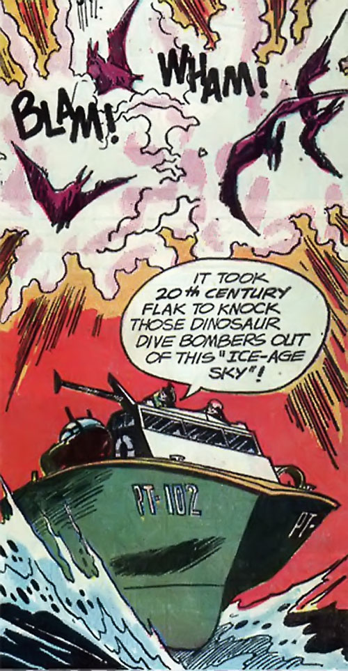War that time forgot (DC Comics) - PT boat vs pterosaurs