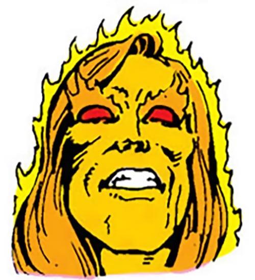 Sun Emperor (Legion of Super-Heroes enemy) (DC Comics) face closeup