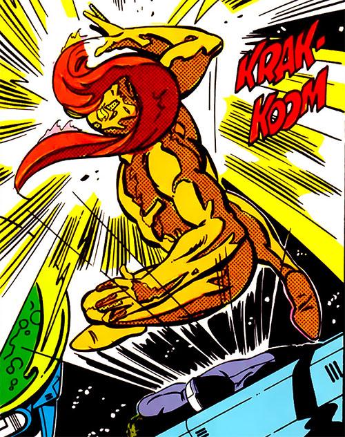 Sun Emperor (Legion of Super-Heroes enemy) (DC Comics) is hit