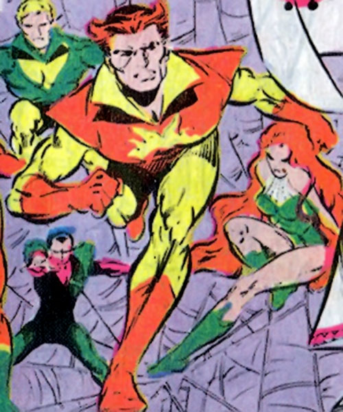 Sun Emperor (Legion of Super-Heroes enemy) (DC Comics) old look with the early Legion of Super-Villains