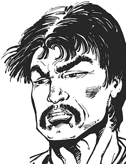Sunburst (Superboy character) (DC Comics) face closeup