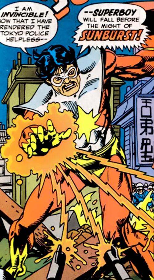 Sunburst (Superboy character) (DC Comics) vs. the Tokyo police