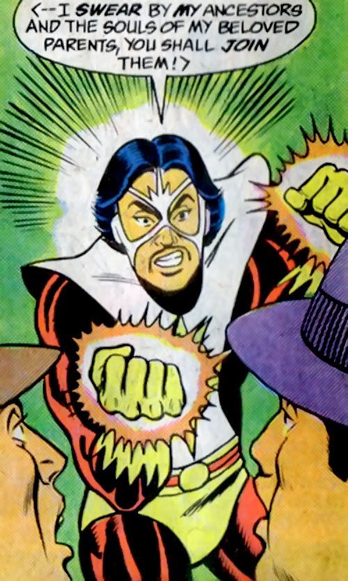 Sunburst (Superboy character) (DC Comics) threatening mobsters