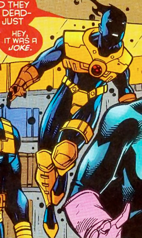 Sunspot (X-Force era) (Marvel Comics) hovering