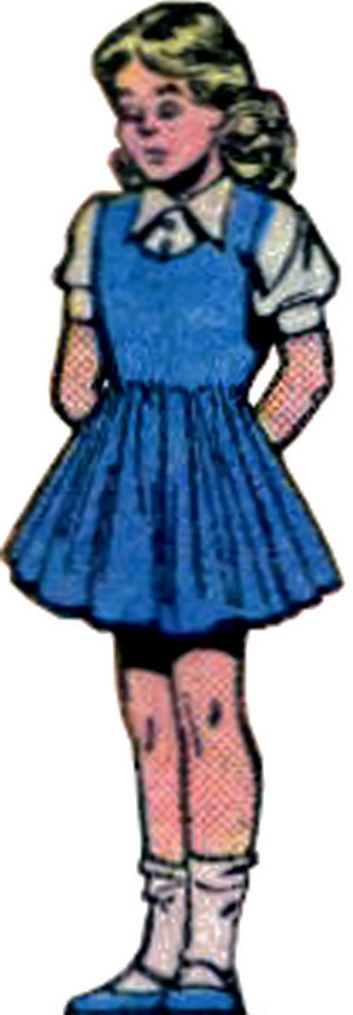 Super-Girl (Liandly) (DC Comics) in a blue dress