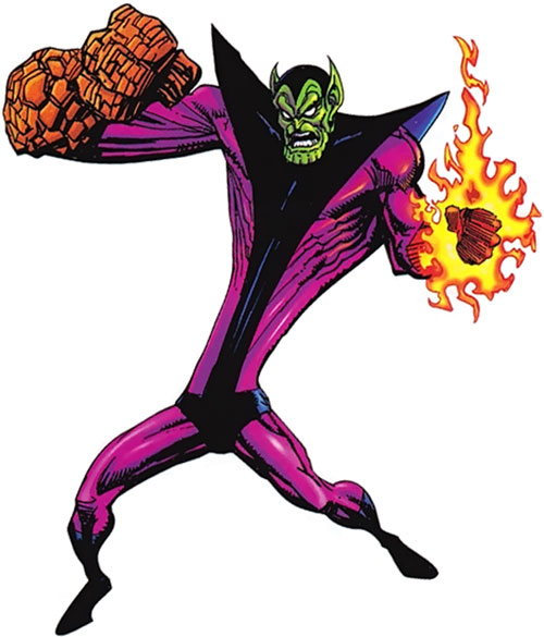 Super-Skrull (Fantastic 4 enemy) (Marvel Comics) using his powers