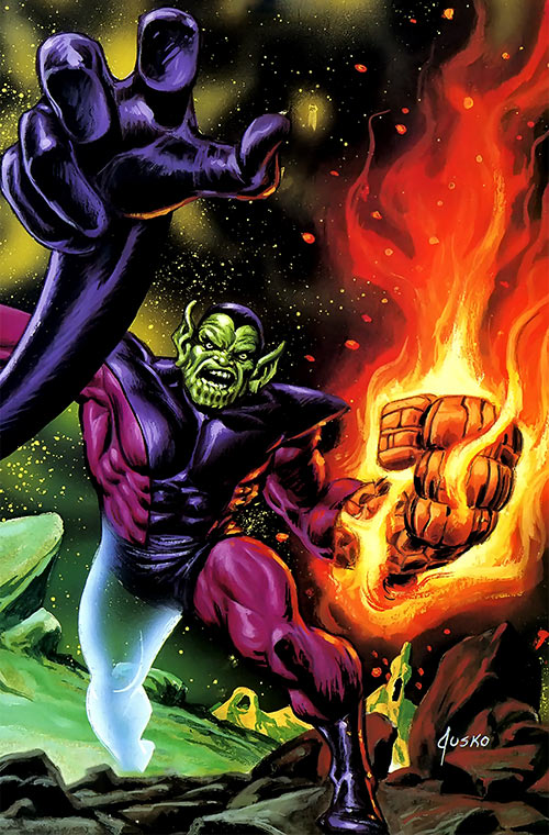 Super-Skrull (Fantastic 4 enemy) (Marvel Comics) by Jusko