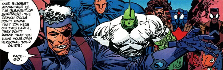 Super-Tough with Savage Dragon and allies