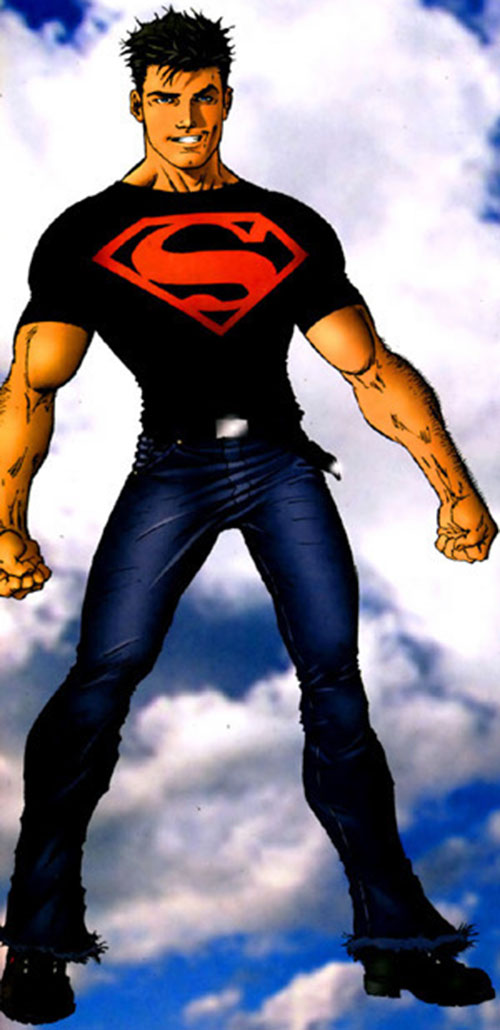 Superboy (Connor) (DC Comics) with the jeans and T-shirt costume