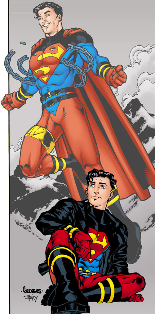 Superboy (Kon-El) (DC Comics) early costumes