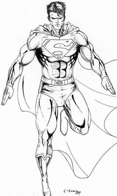 Superboy drawing by C. Craig