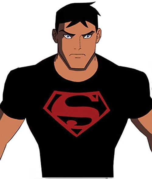 Superboy (Young Justice cartoon TV series) looking determined